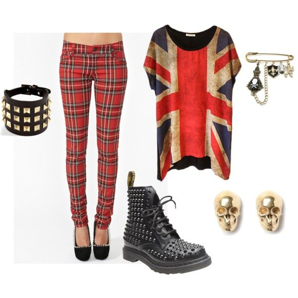 """British Punk Rock Girl"" by laconception on Polyvore"