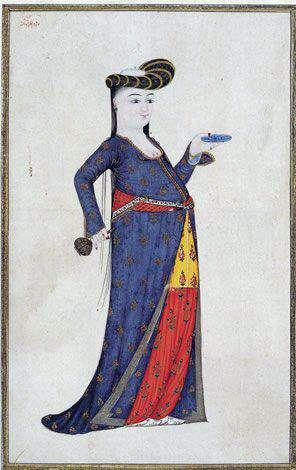 Madame de Pompadour (Two Ottoman women by Abdullah Buhari, 18th c.)
