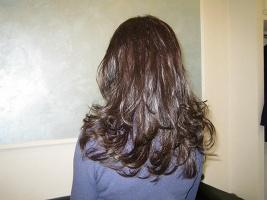 Extension a Roma: da capelli corti e sottili a capelli lunghi e folti (DOPO) - www.extension-roma.it