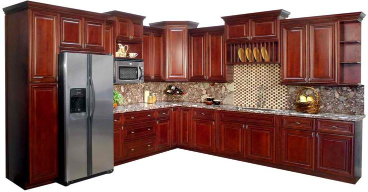 I like all the space and all the cabinets i want the for Cherry wood paint for kitchen cabinets