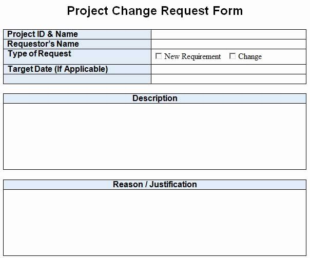 It Project Request Form Template Beautiful Project Change Request Template Excel Word 2020 Template Templates Word Template