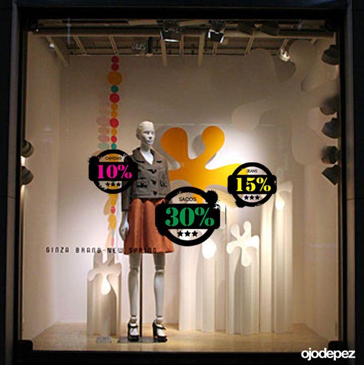 Vinilo Liquidación 049: Vinilos decorativos Liquidación Vinilos adhesivos vidrieras escaparates show window Window Display Wall Art Stickers wall stickers