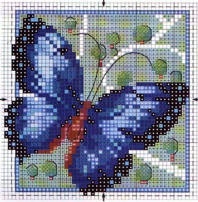маленький метелик фото вишивка