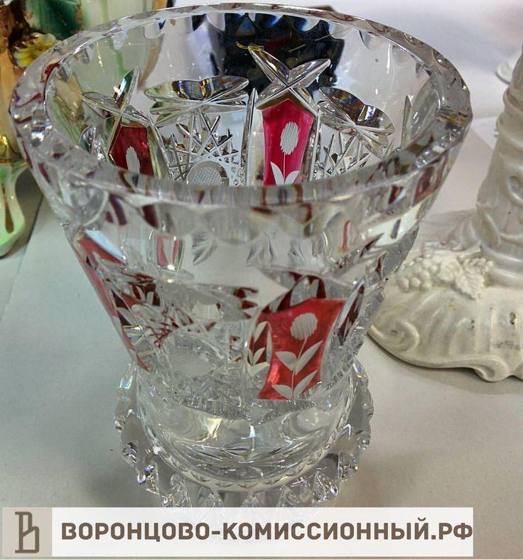 Хрустальная ваза, 1200 рублей, #хрусталь, #хрустальнаяваза, #ваза, #вазадляцветов, #хрустальный