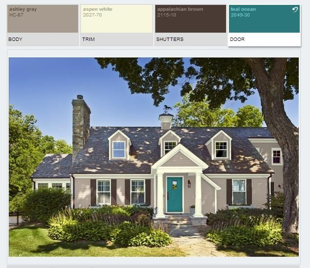 Benjamin Moore Paint Color Schemes Ashley Gray Hc 87 Teal Ocean 2049 30 Appalachian Brown