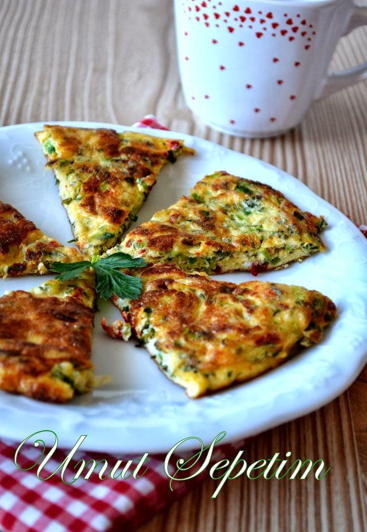 Pırasalı omlet tarifi