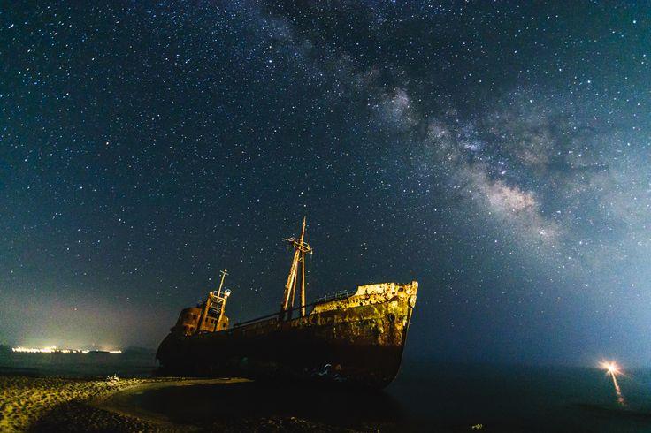 Dimitrios #1 - Shipwreck Dimitrios during a pitch black night