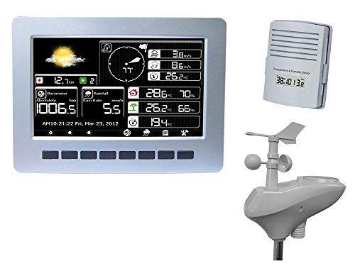 MISOL 1 UNIT of WIFI weather station with solar powered sensor wireless data upload data storage/Estación meteorológica WIFI con sensor de potencia de almacenamiento de datos de carga de datos inalámbrico solar