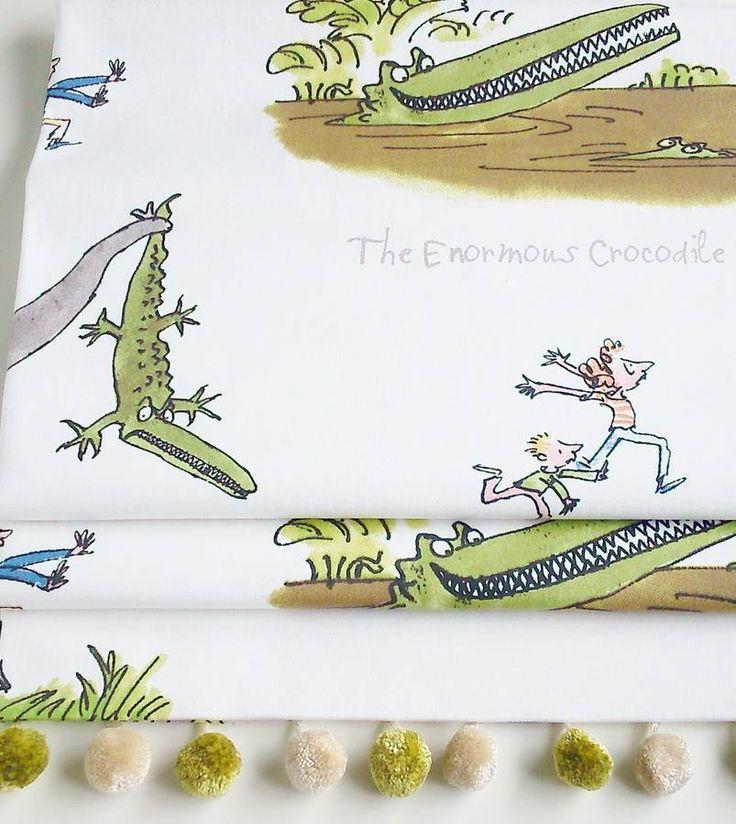 Roald Dahl's 'Enormous Crocodile' Roman Blind