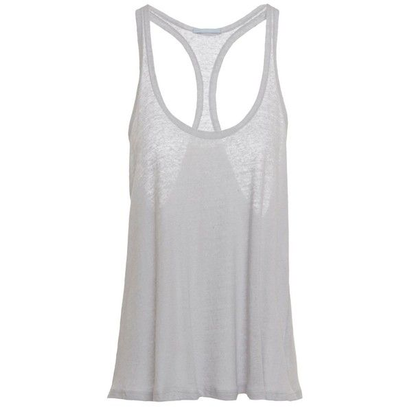 Renata Racerback Tank (£53) ❤ liked on Polyvore featuring tops, tank tops, racerback tank, racerback top, racerback tank tops, off the shoulder tops and racer back top