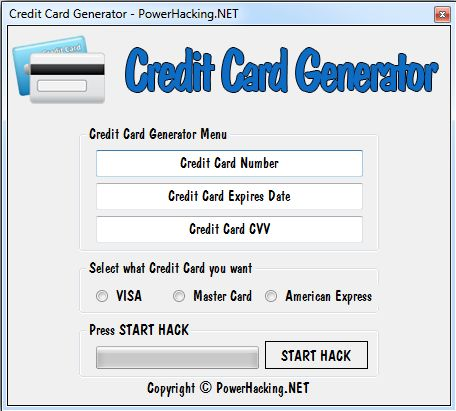 credit card generator 2013 rar password
