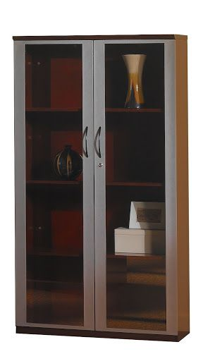 Innovative  Wall Cabinet With Doors All Wood Doors Mahogany Veneer  Office