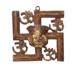Get online Antique Brass Swastik Om Ganesh Wall Hanging at Puja Shoppe. Product code - 000116 .Product Price: Rs. 1,695. Stock Available. Delivered in 3-4 Business Day.. shop now: https://www.pujashoppe.com/antique-brass-swastik-om-ganesh-wall-hanging.html?___SID=U