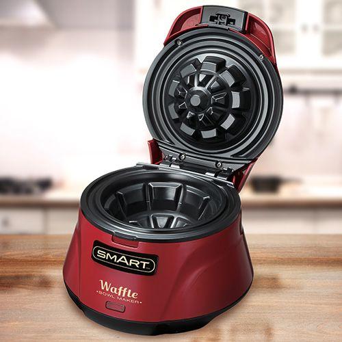 Smart Waffle Bowl Maker Red