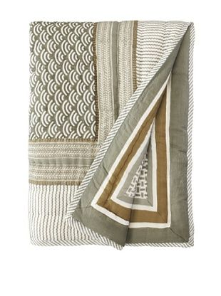 39% OFF Suchiras Harbor Fog Throw, Green/White, 60