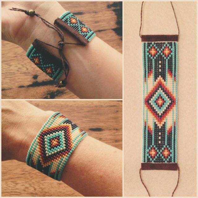 Handmade Native Inspired Bracelets made by Kari Jane www.karijane.com