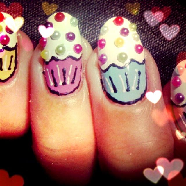 Nail,nail,nail: Cute Cupcakes, Cupcakes Nails Art, Nails Art Cupcakes, Baking Cupcakes, Nails Polish, Luv Cupcakes, Cups Cakes, Cupcakes Rosa-Choqu, Birthday Cakes