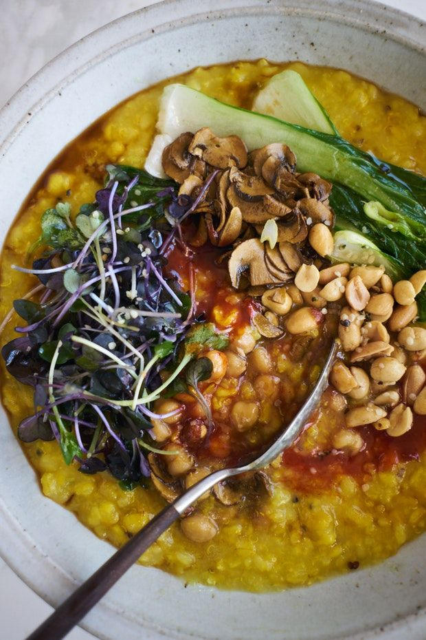 Instant Pot Congee with Brown Rice and Turmeric