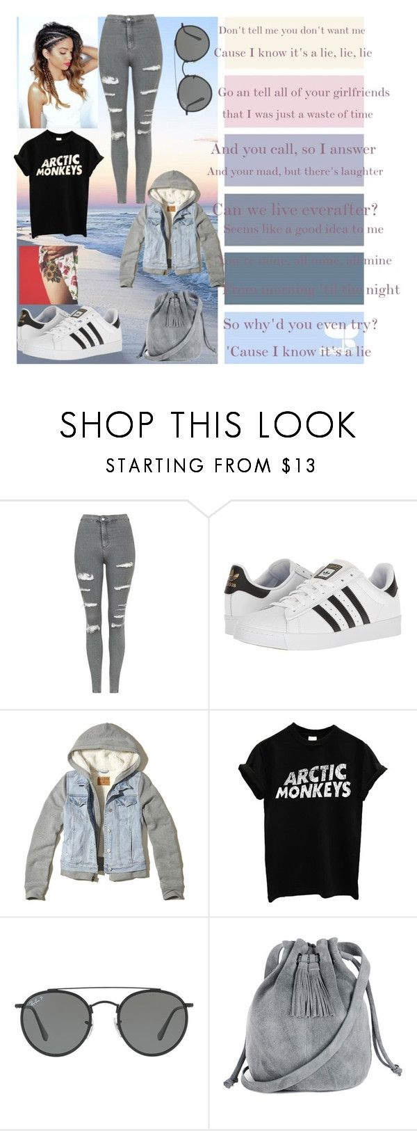 """It's A Lie-The Vamps"" by vintage-girl-18 ❤ liked on Polyvore featuring Topshop, adidas, Hollister Co., Ray-Ban and Warehouse"