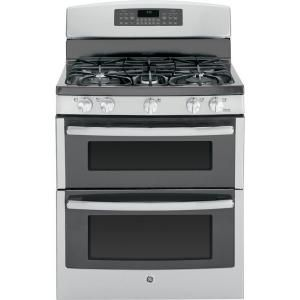 Ge profile series 30 in 5 burner 4 3 cu ft 2 5 cu ft self cleaning - Ge 6 8 Cu Ft Double Oven Gas Range With Self Cleaning