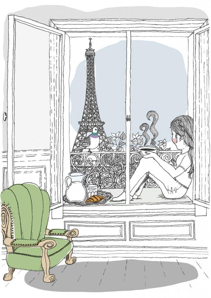 Breakfast in Paris, part 1, by Mia Olofsson