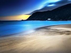 Blue Night Beach Wallpaper | Free Desktop Wallpapers