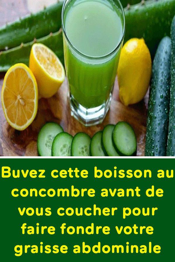 Buvez cette boisson au concombre avant de vous coucher