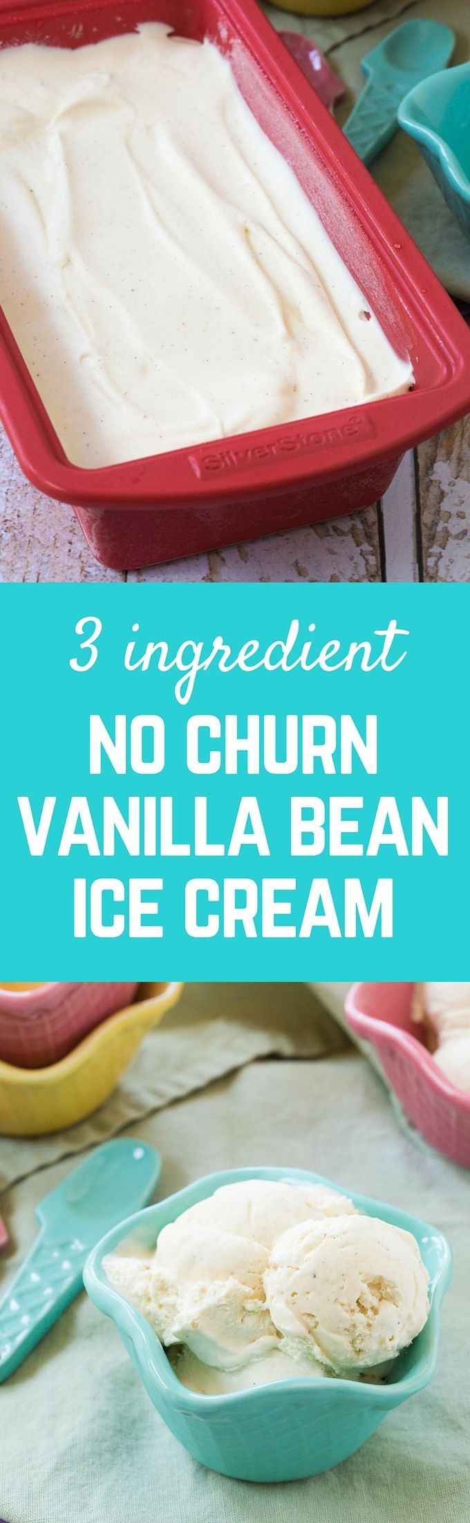 Vanilla bean ice cream is easily made at home -- three ingredients are all you need! No ice cream machine required. Summer just got much easier. Get the easy ice cream recipe on http://RachelCooks.com!
