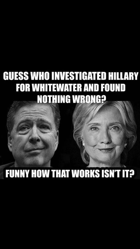 #Whitewater #Comey #NeverHillary