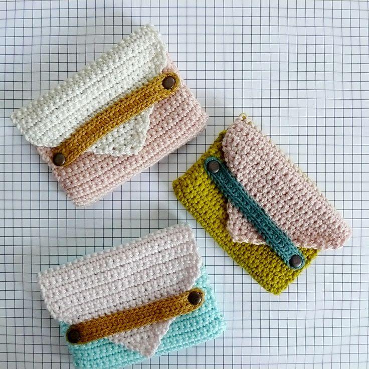 Zimbo - Crochetes Porte-cartes Inspiración ✿⊱╮Teresa Restegui…