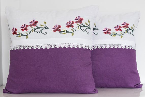 Vintage Decorative Handmade Pillow Vintage by TheSilknCotton