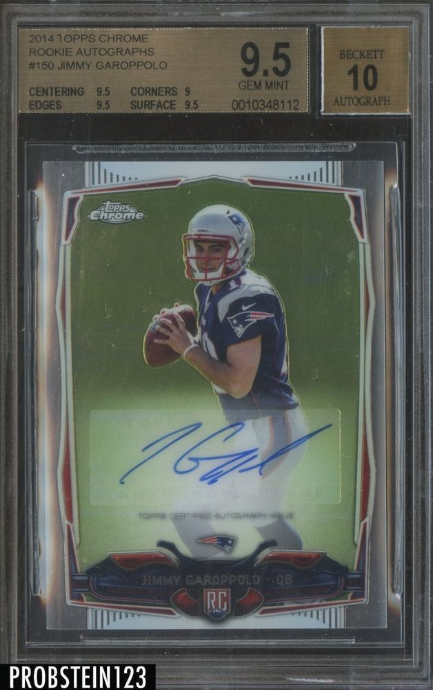 san francisco 9d3fb 4a87c 2014 Topps Chrome Jimmy Garoppolo Patriots RC Rookie AUTO ...