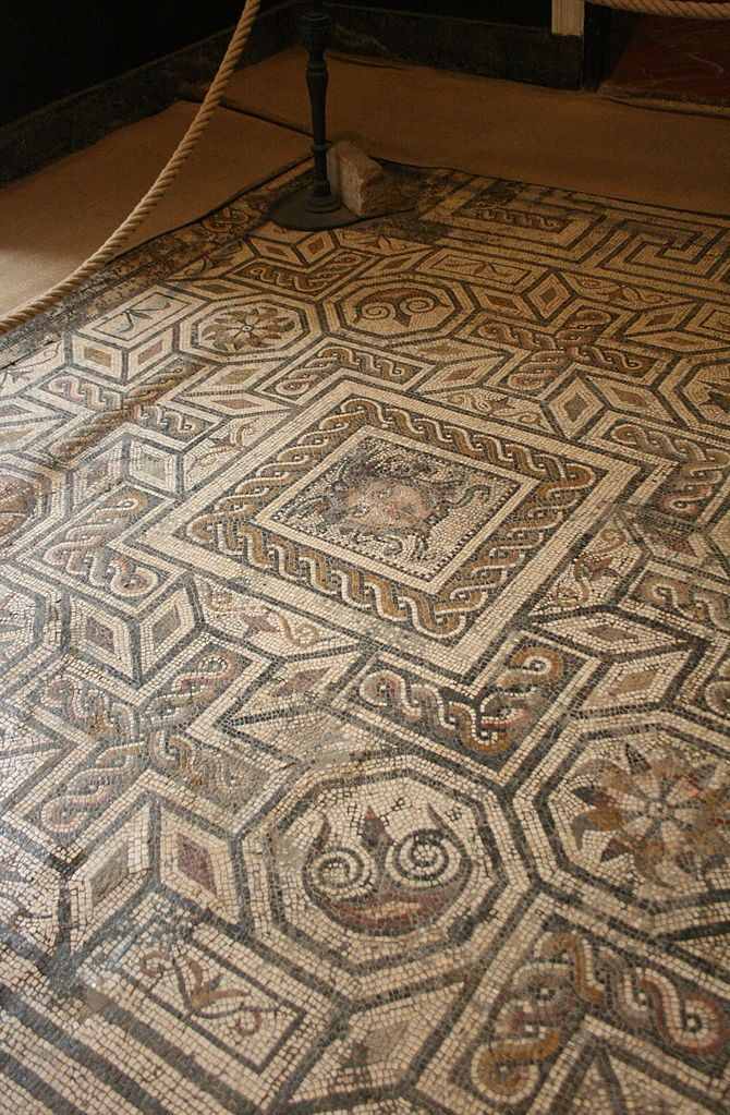 Roman mosaic from Italica, Palacio de la Condesa de Lebrija, Sevilla, Spain.