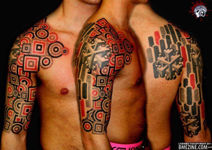 Incredible geometric design tattoo. #tattoo #geometric #graphic