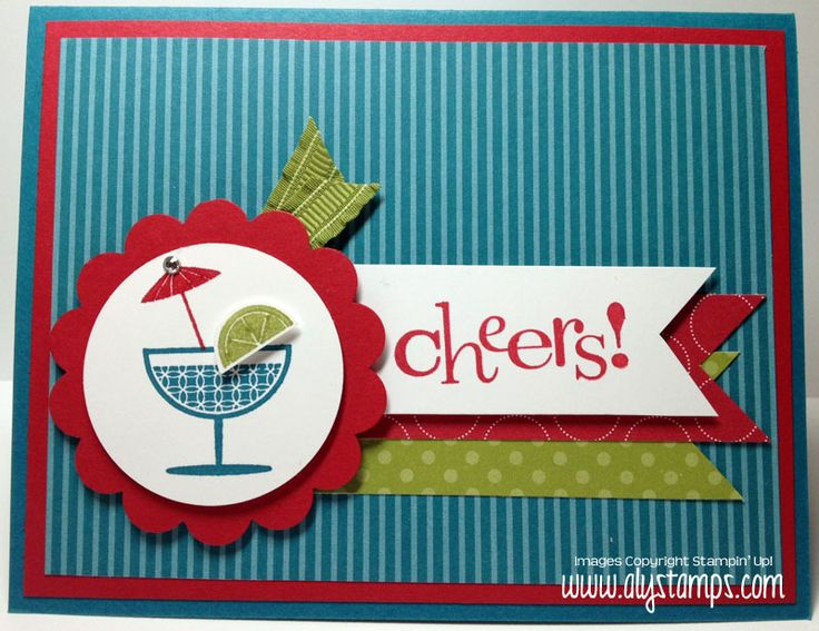 Happy Hour and this set is on sale 11/19/12-11/28/12 at Stampin Up!!  Cheers to You! | AlyStamps.com