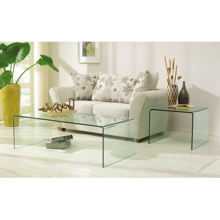 glazentafel.com | glazen salontafel ALESSO | helder gebogen glas | glass table | coffee table | design