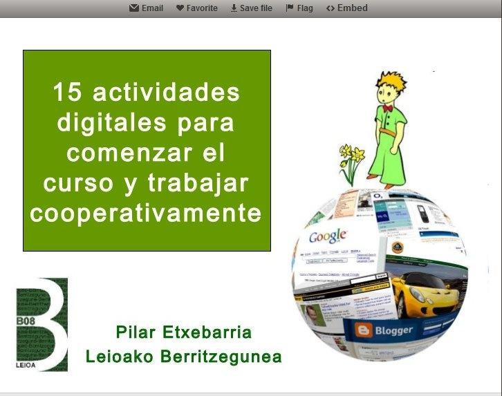 15 actividades digitales para comenzar el curso y trabajar cooperativamente.