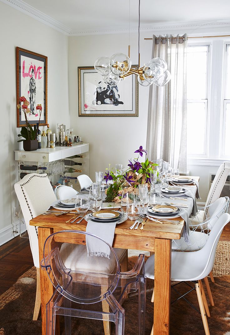 Farm Table In Urban Dining Room | Brooklyn Blonde Home