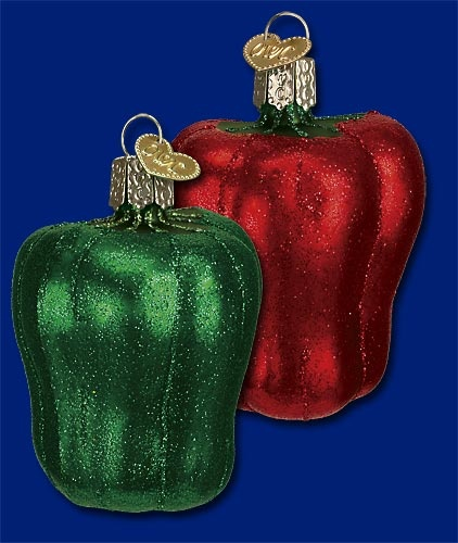 Bell Pepper,  Old World Christmas Glass Ornaments