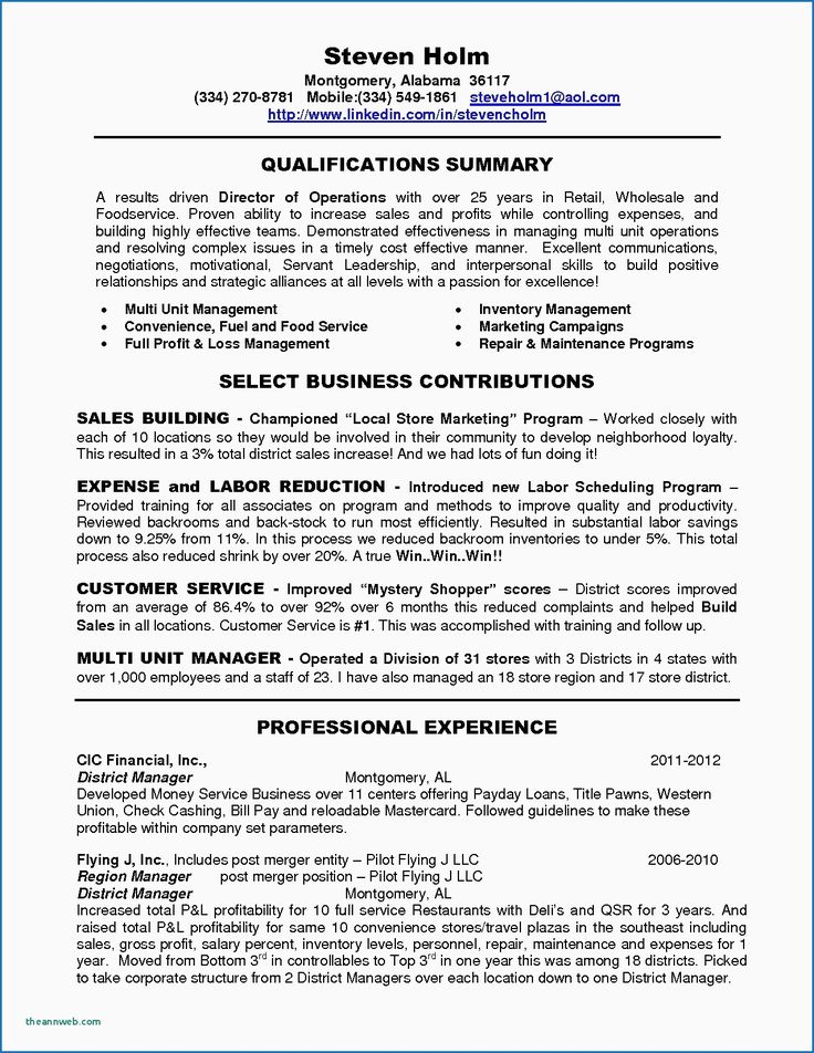 14 Sample Resume for Retail Business Owner Check more at