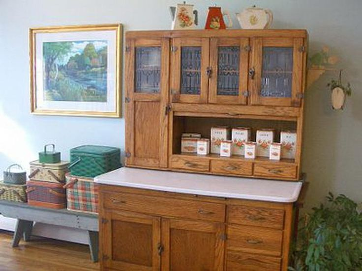 Hoosier Cabinet With Table For Sale