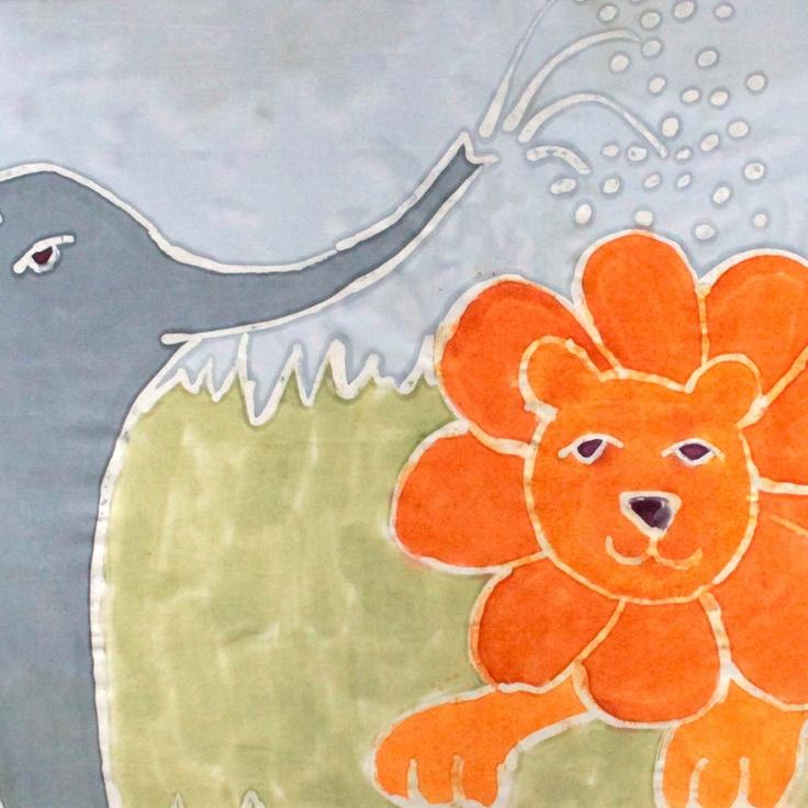 Elephant and lion design
