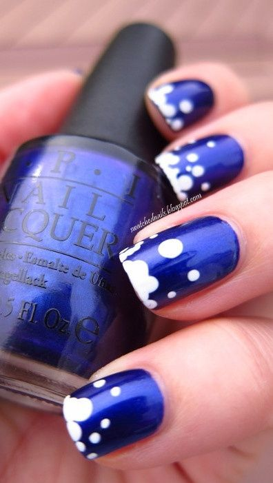 Blue Bubble Nails - Uñas burbujas azules
