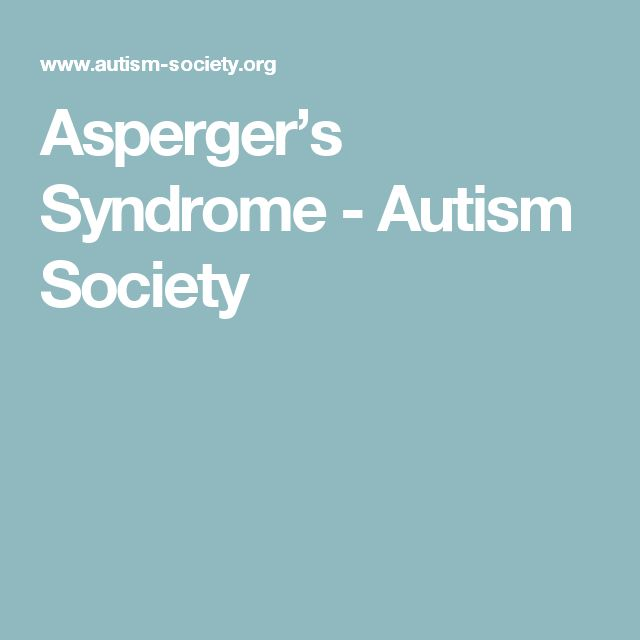Asperger's Syndrome - Autism Society