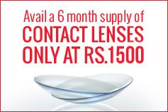 Every Vision Express has the latest range of contact lenses and has become the preferred contact lenses store in India today. Visit your nearest Vision Express store to avail the best contact lenses offers. Vision Express is a globally recognised brand for visual aid solutions offering a 6 month supply of Contact lenses at just Rs. 1500/-!http://www.visionexpress.in/contact-lenses.html
