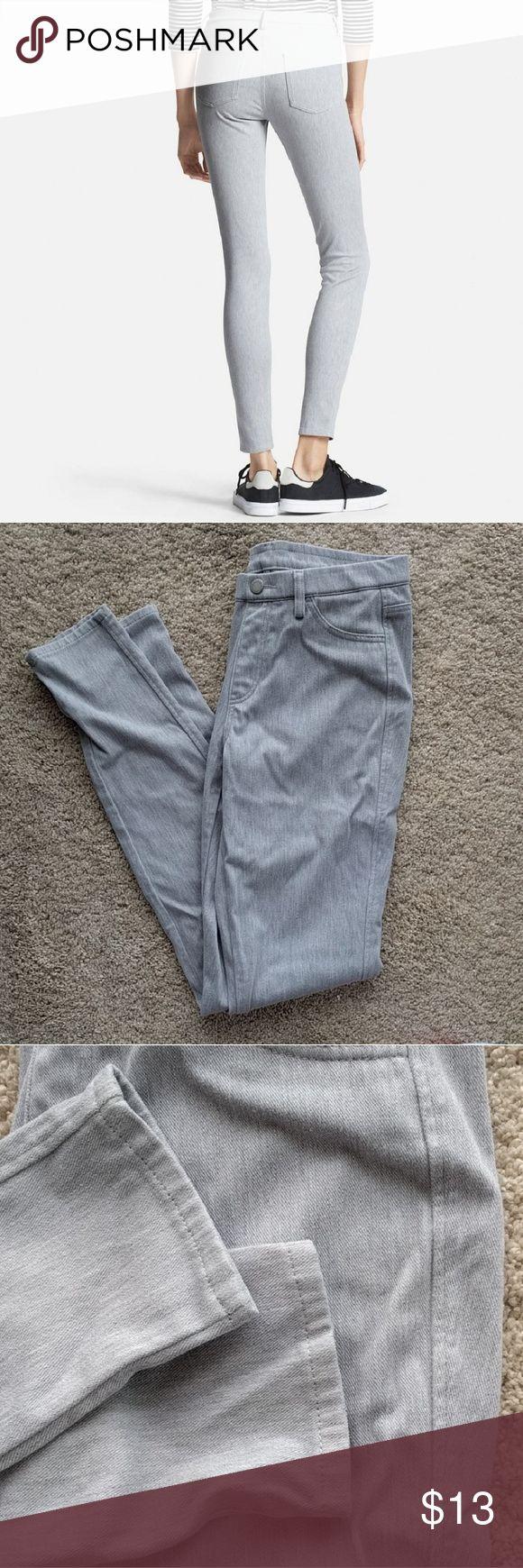 🌠 Uniqlo leggings Uniqlo grey/gray leggings.  Worn twice, one wash. Waist 26-27 inches Size S Uniqlo Pants Leggings