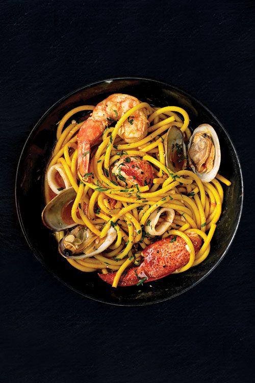 Bucatini ai Frutti di Mare (Seafood Pasta): A delicious Italian shellfish laden pasta.