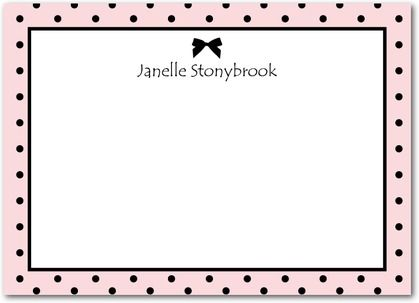 Dotted Bow: Blush - Studio Basics: Flat Thank You Cards in Blush | Tiny Prints Studio Basics