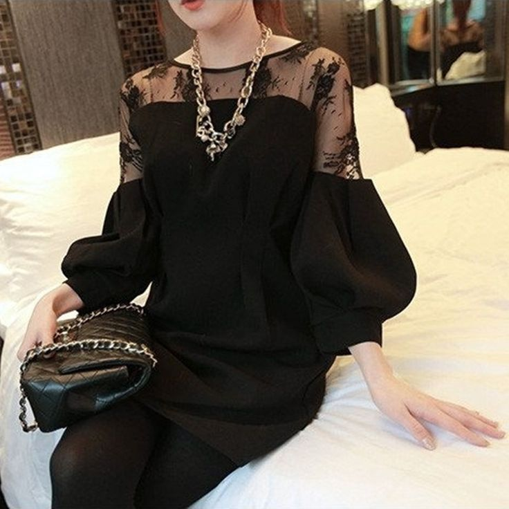 >> Click to Buy << [GUTU] New Women Fashion Black Shirt Round Collar Large Size Stitching Lace Printing Batwing Sleeve Loose Short Female F80701S #Affiliate