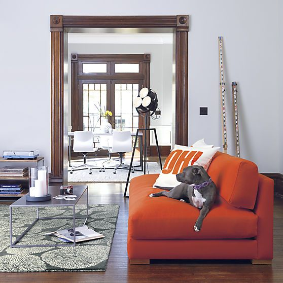 Piazza Persimmon Sofa In Sofas | CB2 This Large Couch Would Define Whatever  Space Its Placed